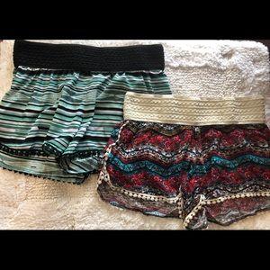 SIZE: XS Boho shorts LOT (2)
